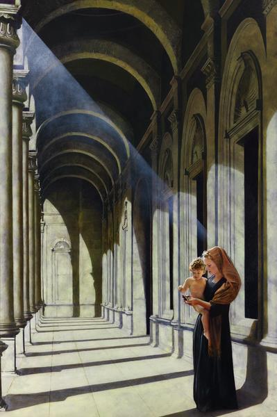 The Windows Of Heaven - 24 x 36 giclée on canvas (unmounted) by Al Young
