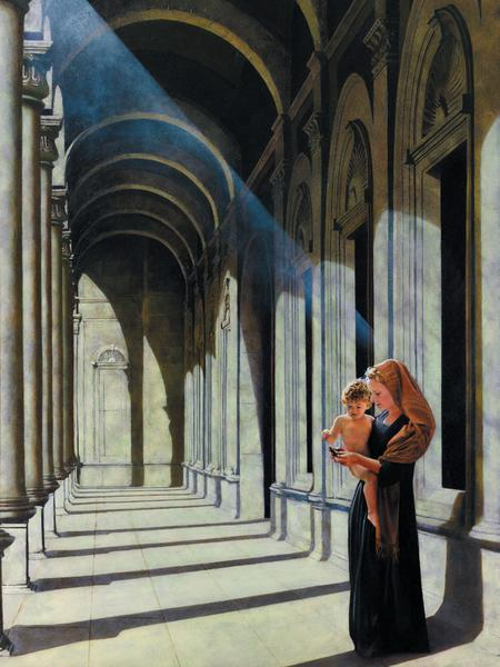 The Windows Of Heaven - 18 x 24 print by Al Young