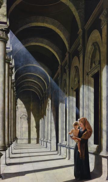 The Windows Of Heaven - 18 x 30.25 giclée on canvas (unmounted) by Al Young