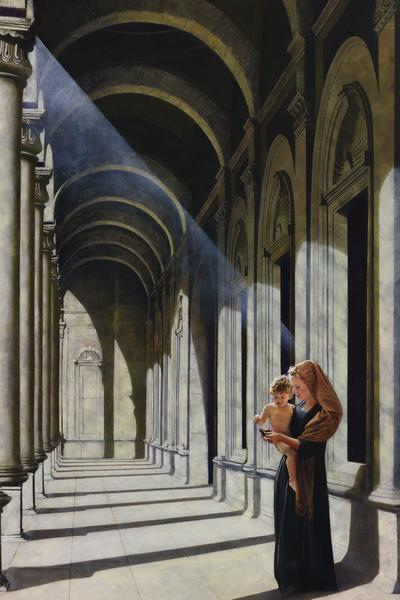 The Windows Of Heaven - 20 x 30 giclée on canvas (unmounted) by Al Young