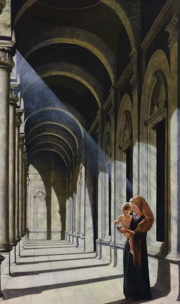 The Windows Of Heaven - 30 x 50.5 giclée on canvas (unmounted) by Al Young