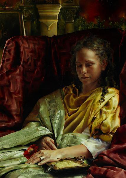 Upon Awakening - 20 x 28 giclée on canvas (unmounted) by Elspeth Young