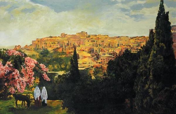 Unto The City Of David - 15.5 x 24 print by Ashton Young