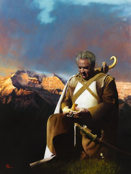 At The Going Down Of The Sun - 18 x 24 giclée on canvas (pre-mounted) by Al Young