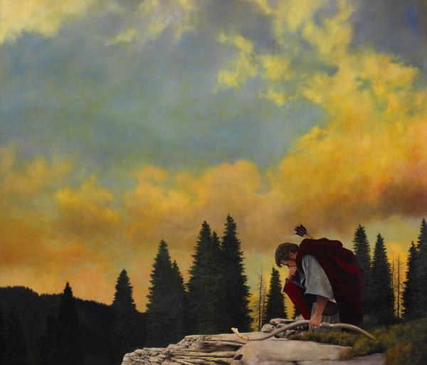 And My Soul Hungered - 36 x 42 giclée on canvas (unmounted) by Al Young