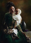 Bearing A Child In Her Arms - 20 x 28 giclée on canvas (unmounted)