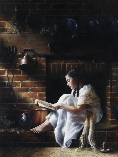 Growing Light - 18 x 24 giclée on canvas (pre-mounted) by Elspeth Young