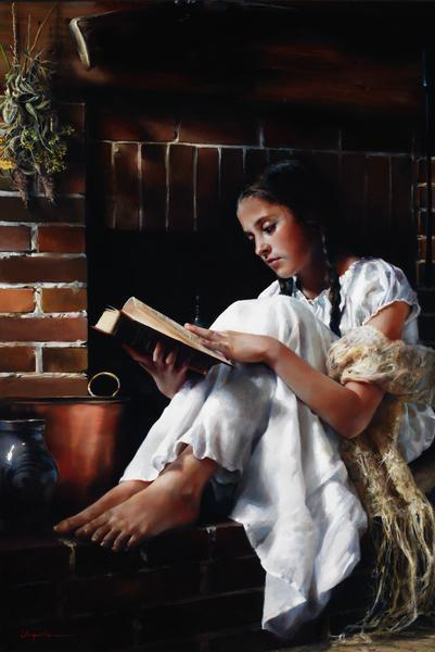 The Treasure - 24 x 36 giclée on canvas (unmounted) by Elspeth Young
