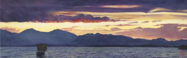 We Have Toiled All The Night - 16 x 51.625 giclée on canvas (unmounted) by Ashton Young