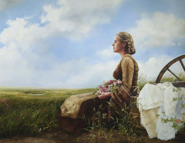 If God So Clothe The Field - 14 x 18 print by Elspeth Young