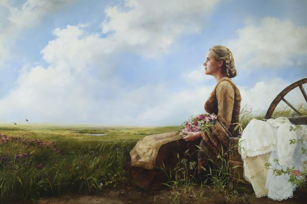 If God So Clothe The Field - 20 x 30 print by Elspeth Young