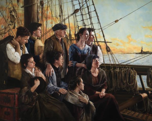 Sweet Land Of Liberty - 16 x 20 giclée on canvas (pre-mounted) by Elspeth Young