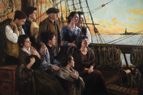 Sweet Land Of Liberty - 24 x 36 giclée on canvas (unmounted) by Elspeth Young