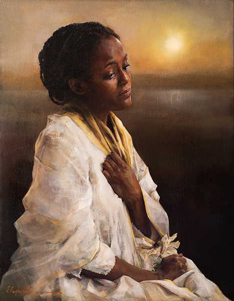 The Blessings Afar Off - 14 x 18 giclée on canvas (pre-mounted) by Elspeth Young