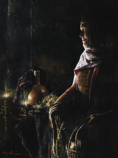 A Lamp Unto My Feet - 24 x 32 print by Elspeth Young