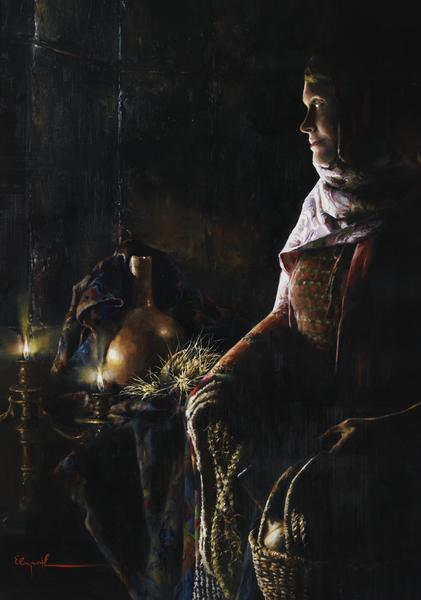 A Lamp Unto My Feet - 14 x 20 giclée on canvas (pre-mounted) by Elspeth Young