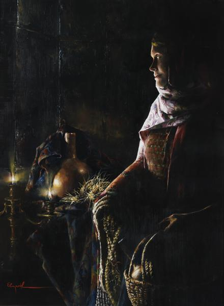 A Lamp Unto My Feet - 24 x 32.75 giclée on canvas (unmounted) by Elspeth Young