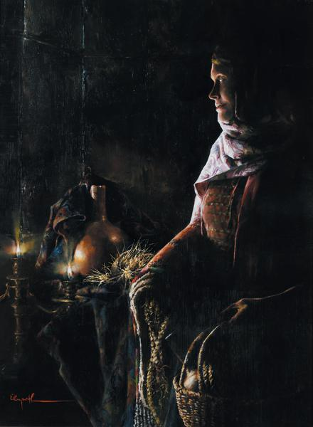 A Lamp Unto My Feet - 12 x 16.25 print by Elspeth Young
