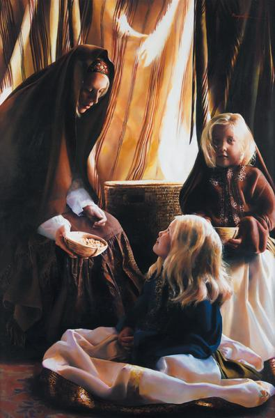 The Daughters Of Zelophehad - 20 x 30.5 print by Elspeth Young