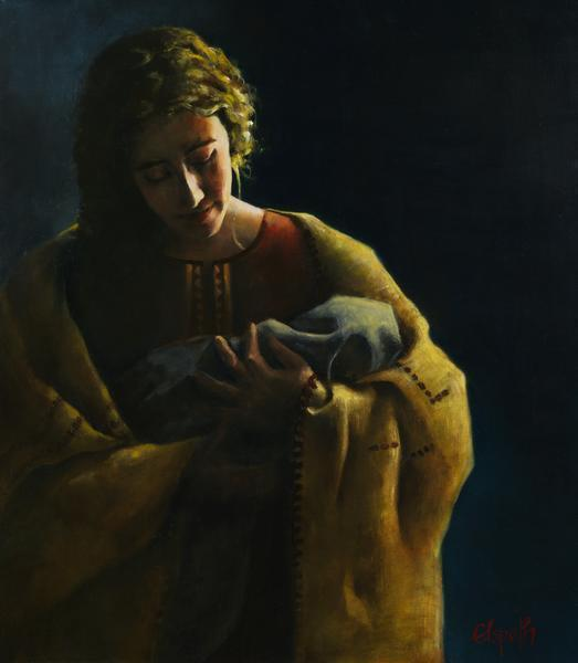 The Protector - 16 x 18.25 giclée on canvas (pre-mounted) by Elspeth Young