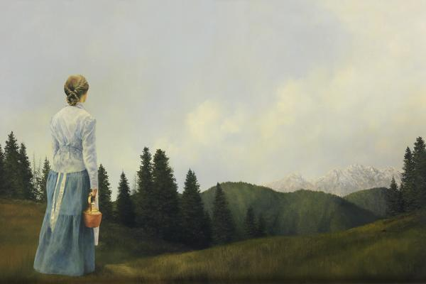 Mountain Home - 20 x 30 giclée on canvas (unmounted) by Al Young