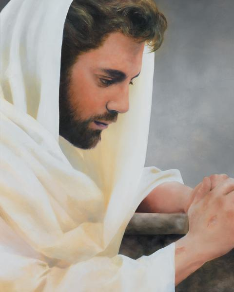 We Heard Him Pray For Us - 24 x 30 print by Al Young