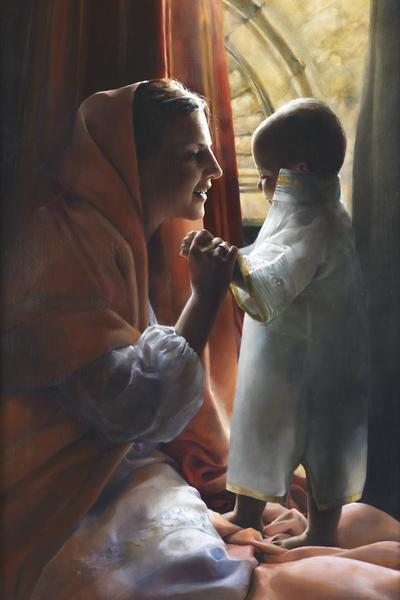 For This Child I Prayed - 24 x 36 giclée on canvas (unmounted) by Elspeth Young