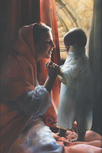 For This Child I Prayed - 24 x 36 print by Elspeth Young