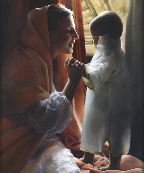 For This Child I Prayed - 20 x 24 giclée on canvas (unmounted) by Elspeth Young