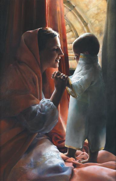 For This Child I Prayed - 16 x 25 print by Elspeth Young