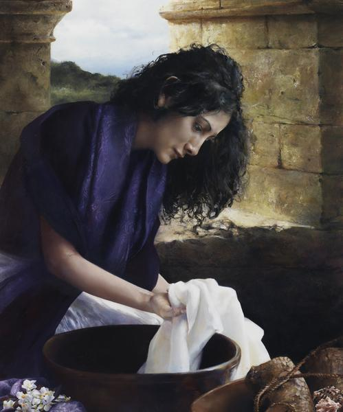 She Worketh Willingly With Her Hands - 20 x 24 giclée on canvas (unmounted) by Elspeth Young