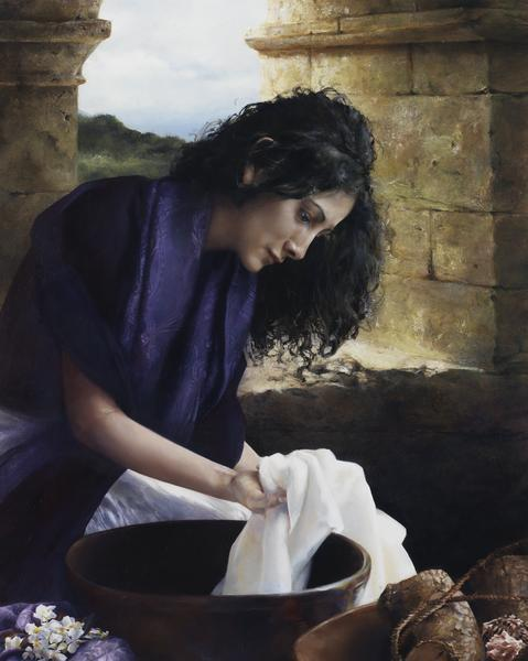 She Worketh Willingly With Her Hands - 24 x 30 giclée on canvas (unmounted) by Elspeth Young