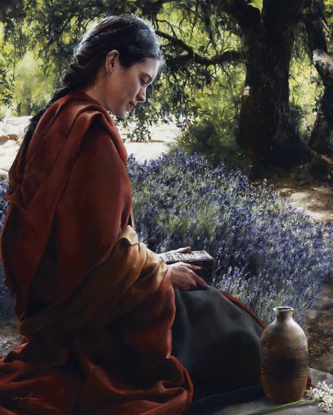 She Is Come Aforehand - 24 x 30 giclée on canvas (unmounted) by Elspeth Young