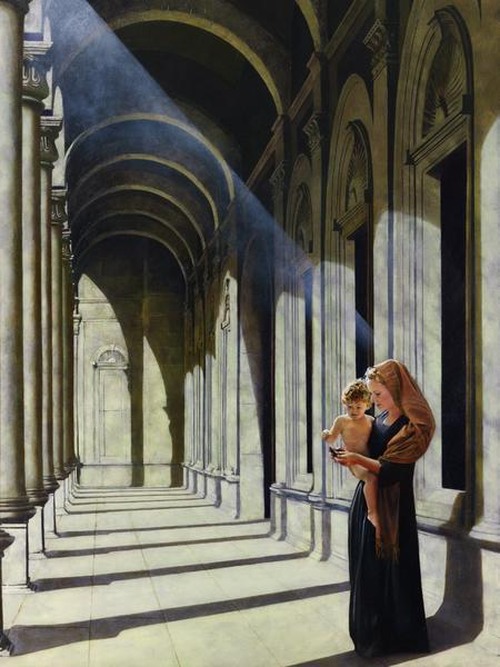 The Windows Of Heaven - 18 x 24 giclée on canvas (pre-mounted) by Al Young