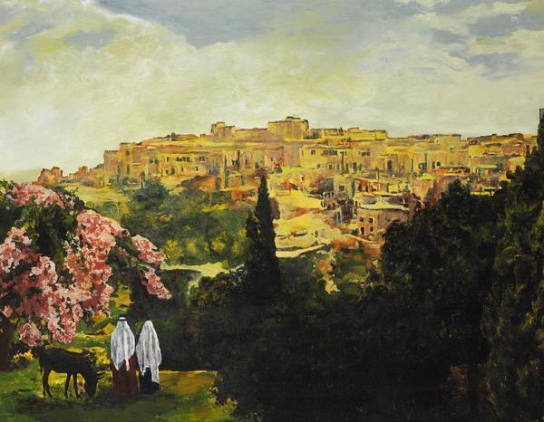 Unto The City Of David - 14 x 18 giclée on canvas (pre-mounted) by Ashton Young