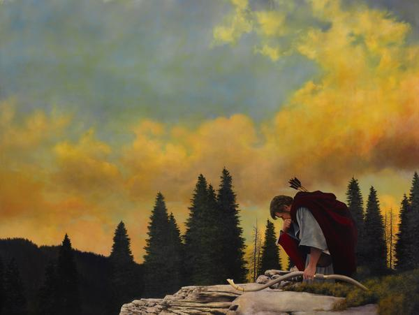 And My Soul Hungered - 30 x 40 giclée on canvas (unmounted) by Al Young