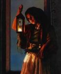 A Damsel Came To Hearken - 20 x 24 print