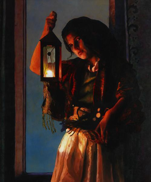 A Damsel Came To Hearken - 20 x 24 giclée on canvas (unmounted) by Ashton Young