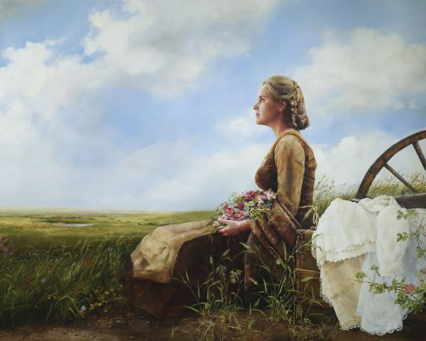 If God So Clothe The Field - 16 x 20 giclée on canvas (pre-mounted) by Elspeth Young