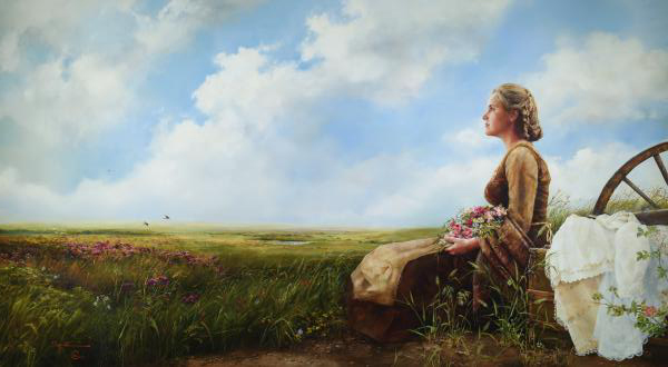 If God So Clothe The Field - 16 x 29.125 giclée on canvas (unmounted) by Elspeth Young
