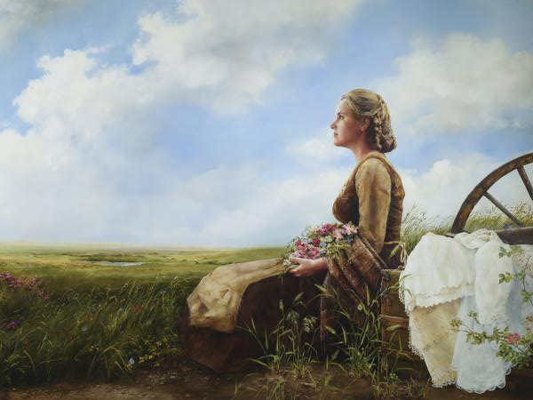 If God So Clothe The Field - 18 x 24 print by Elspeth Young