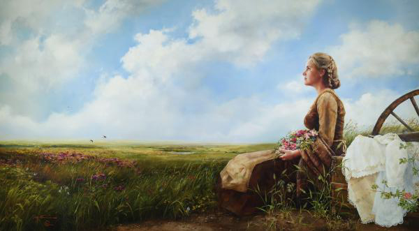 If God So Clothe The Field - 24 x 43.625 giclée on canvas (unmounted) by Elspeth Young