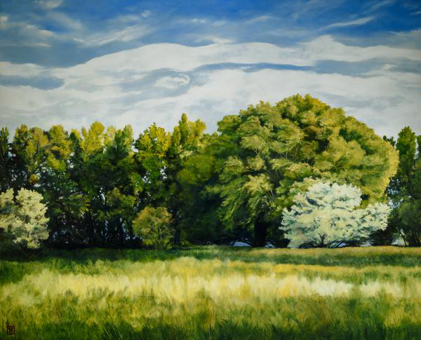 Green And Pleasant Land - 38 x 47 giclée on canvas (unmounted) by Ashton Young