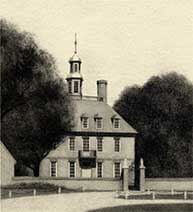 The governor's palace in Williamsburg by Al R. Young