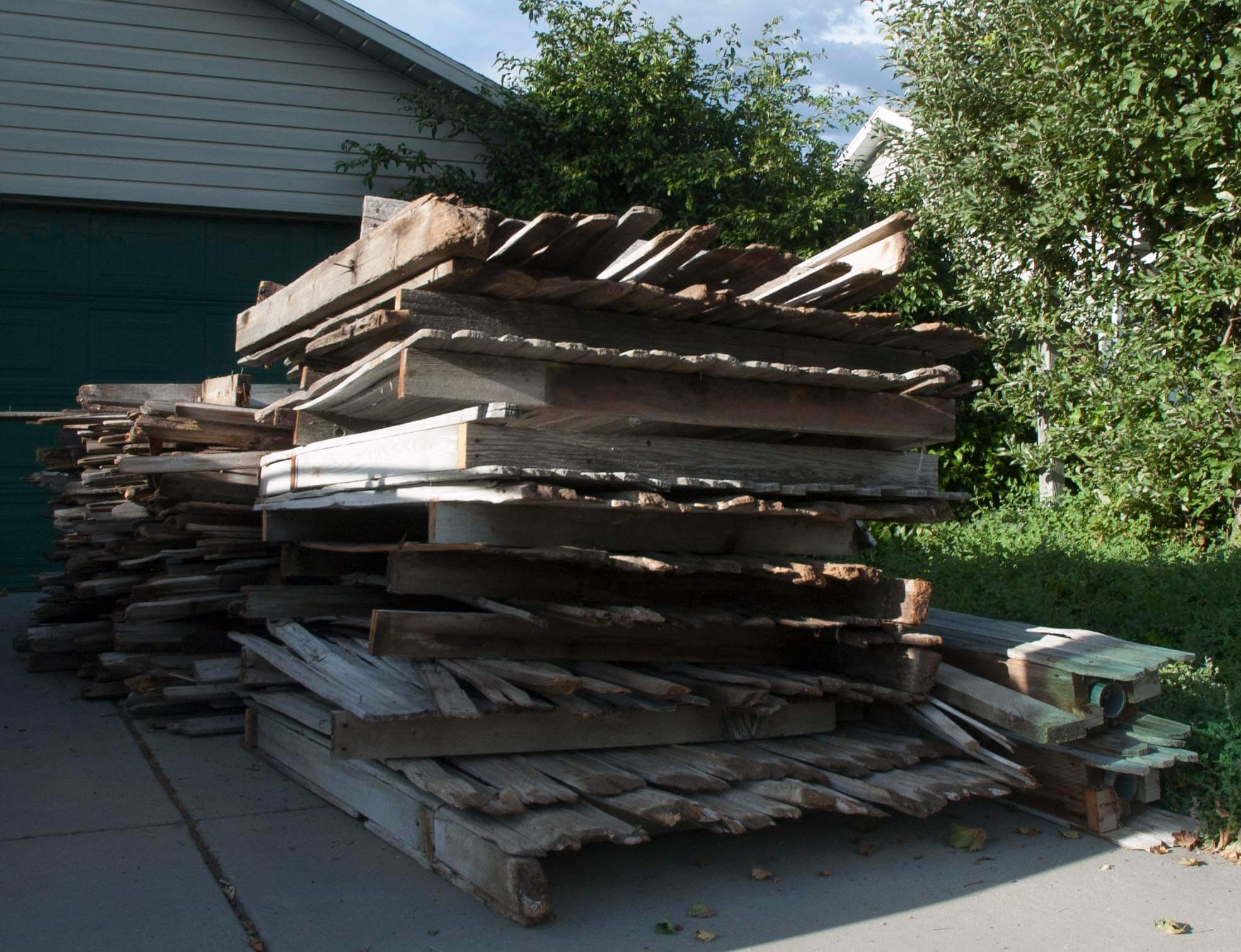 Strictly speaking, the first steps in constructing the barn involved dismantling these fence section...