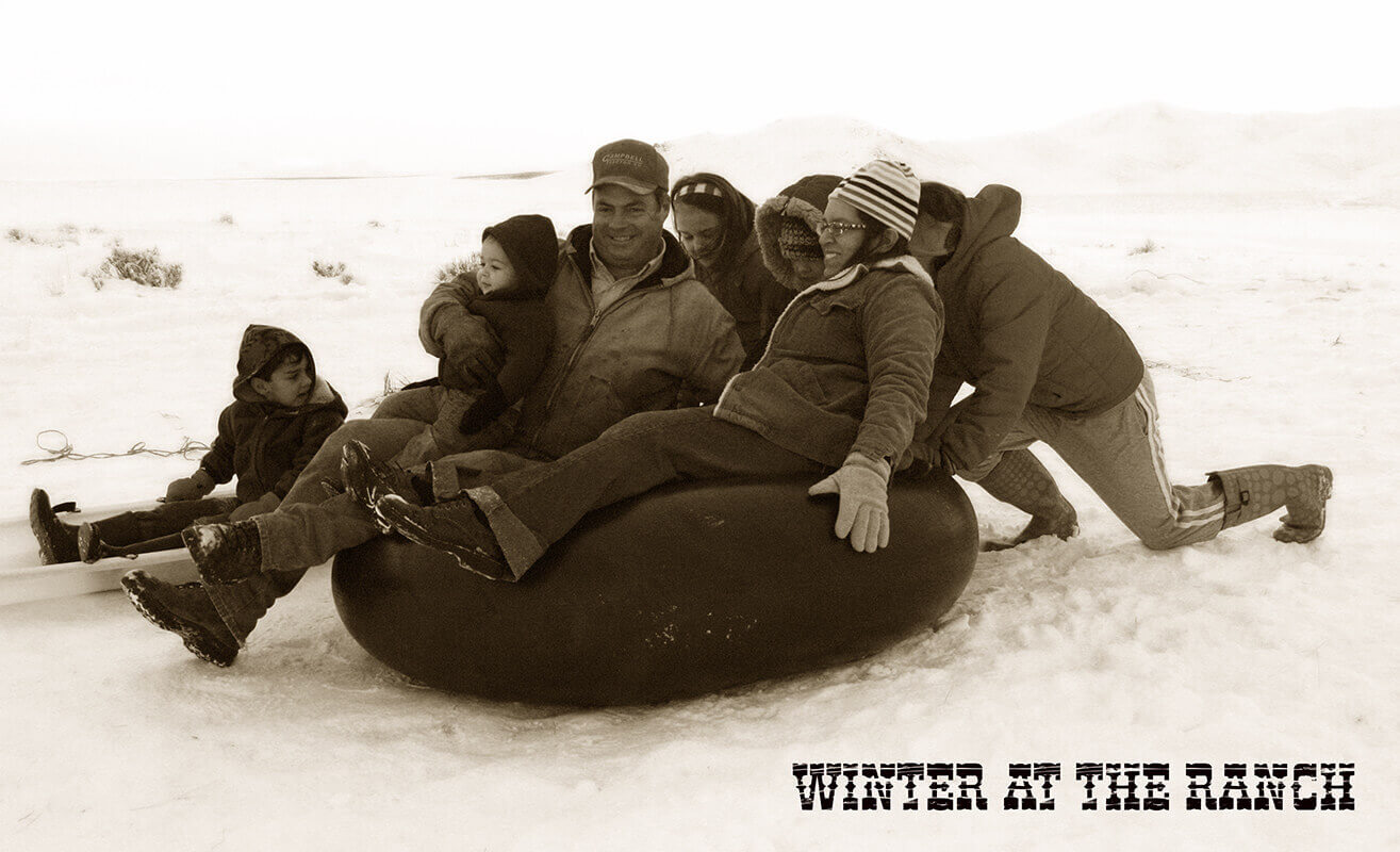 Winter snows and pogonip send everyone indoors for warmth.The men busy themselves servic...
