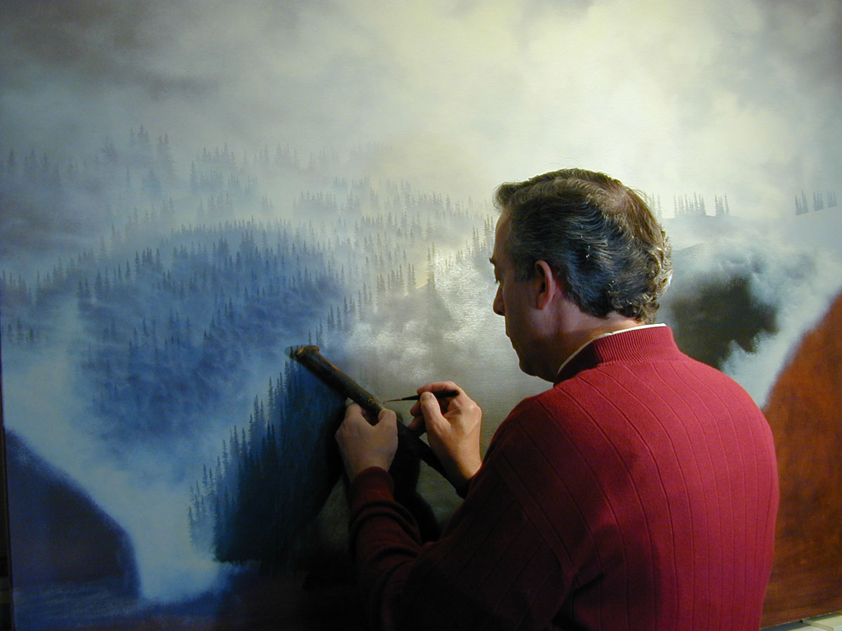 Al painting the trees, even a few subsequently obscured by mid-ground and foreground elements.