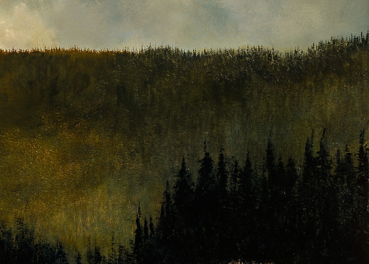 Detail from Under the Northern Mountains by Al R. Young
