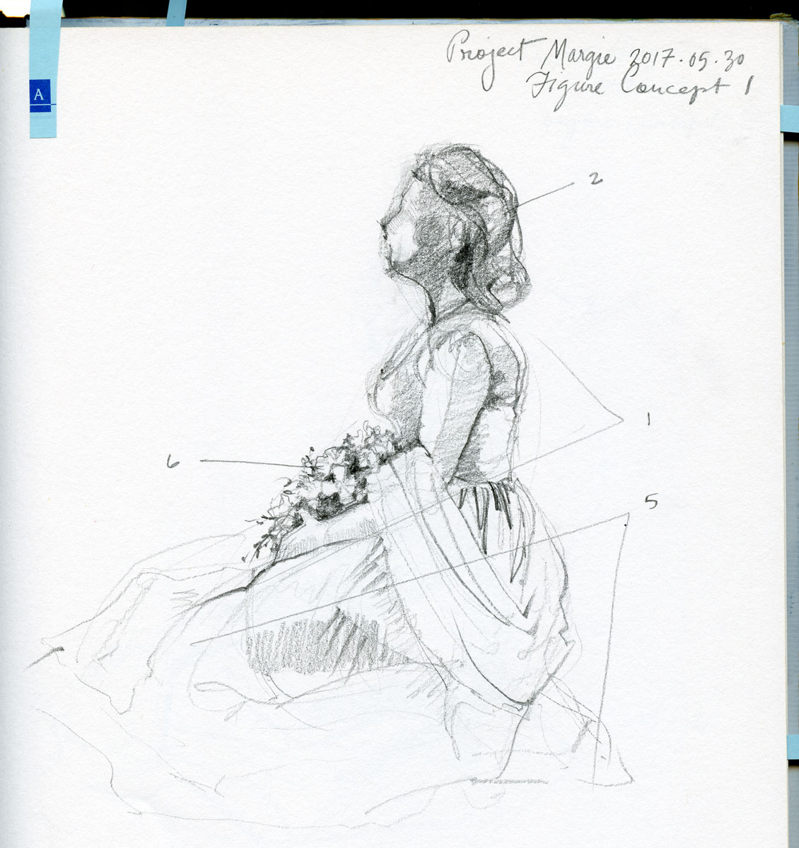 Figure study in pencil by Elspeth Young