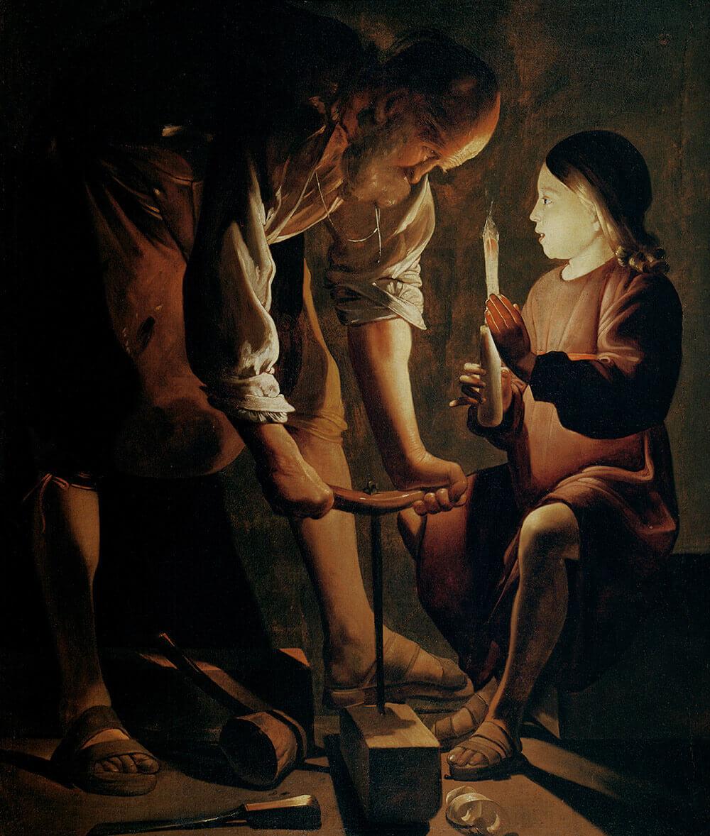 Joseph the Carpenter by Georges de La Tour (circa 1645)